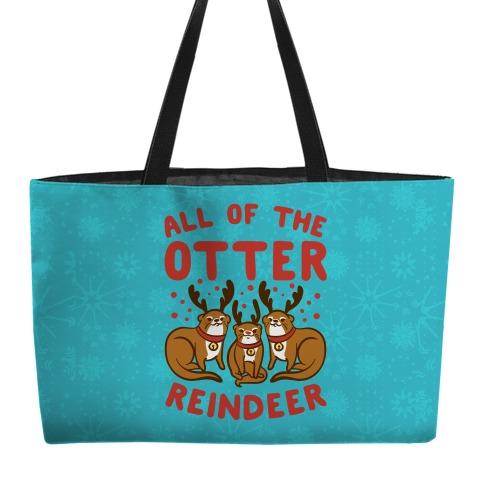 All of The Otter Reindeer Weekender Tote