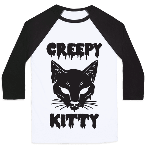 Creepy Kitty Baseball Tee