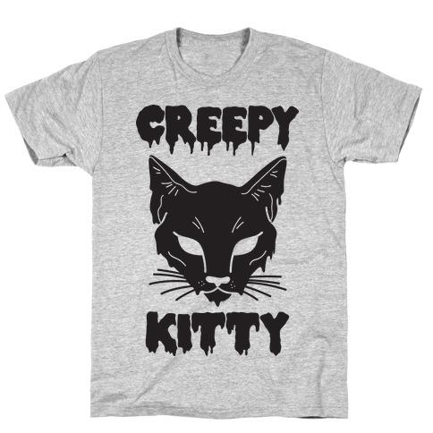 Creepy Kitty Mens T-Shirt