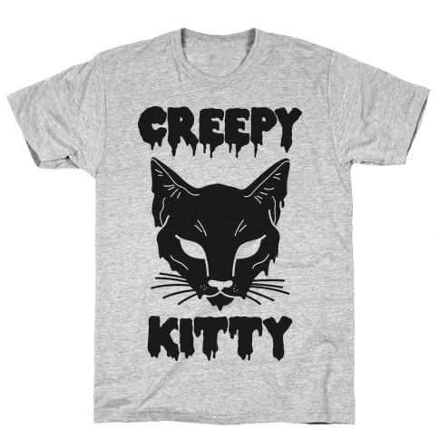 Creepy Kitty Mens T-Shirt