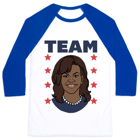 Tag Team Barack & Michelle Obama 2 Baseball Tee