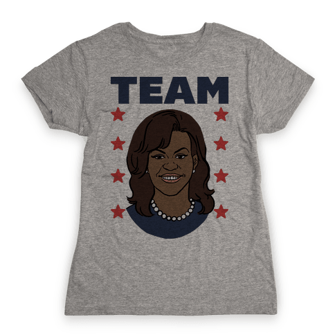 Tag Team Barack & Michelle Obama 2 Womens T-Shirt