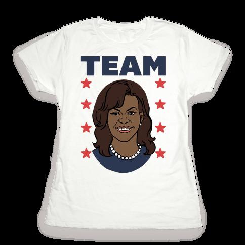Tag Team Barack & Michelle Obama 2 Womens T-Shirt