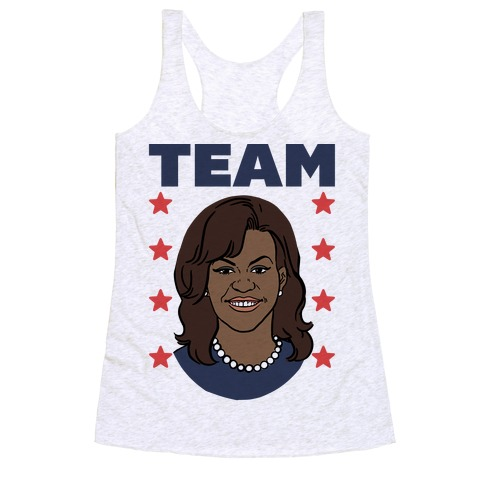 Tag Team Barack & Michelle Obama 2 Racerback Tank Top
