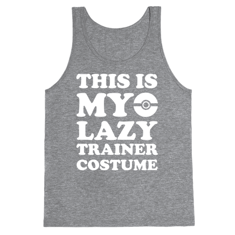 This Is My Lazy Trainer Costume Tank Top