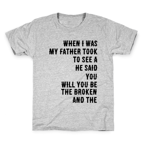 When I Was a Young Boy (1 of 2 pair) Kids T-Shirt