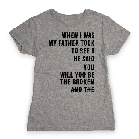 When I Was a Young Boy (1 of 2 pair) Womens T-Shirt