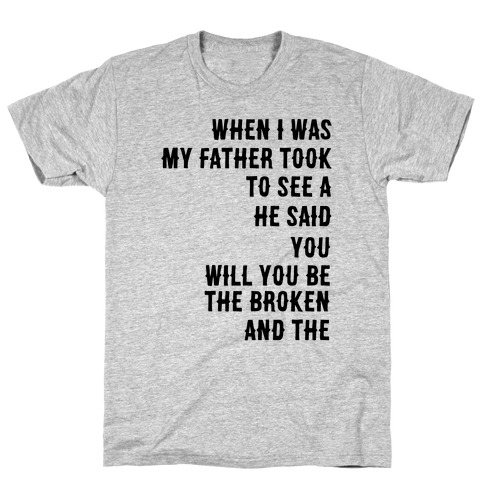 When I Was a Young Boy (1 of 2 pair) T-Shirt