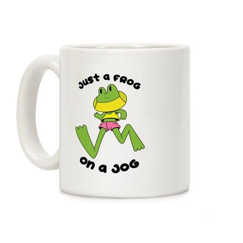 Just a Frog on a Jog Coffee Mug