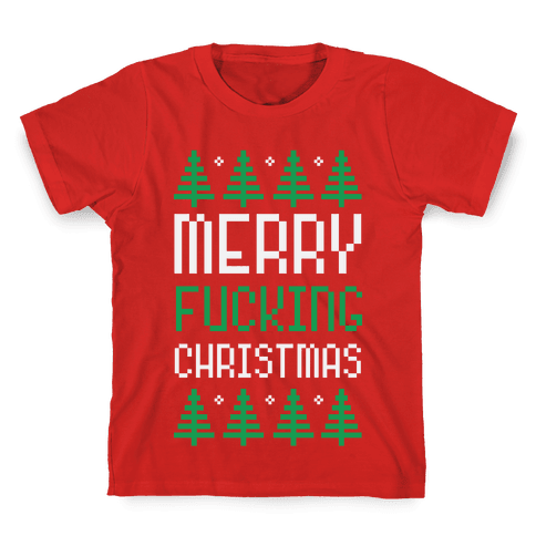 Merry F***ing Christmas Kids T-Shirt
