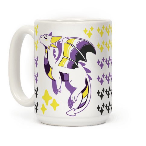 Non-Binary Pride Dragon Coffee Mug