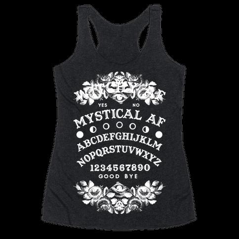 Mystical AF Ouija Board Racerback Tank Top