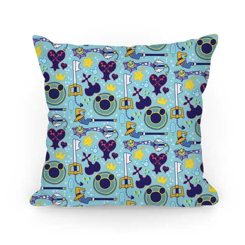 Kingdom Hearts pattern Pillow