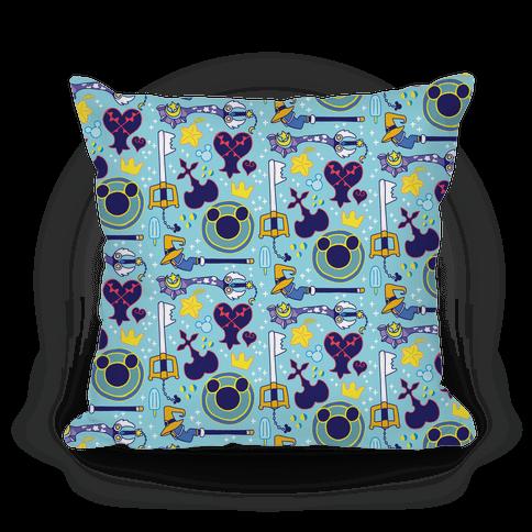 Kingdom Hearts pattern Pillow