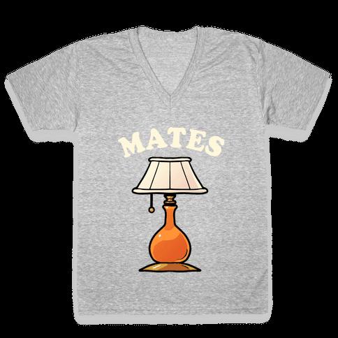 Moth & Lamp Soul Mates (2 of 2) V-Neck Tee Shirt