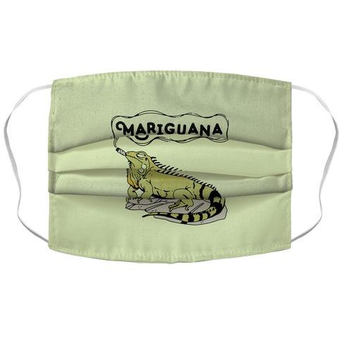 Mariguana Marijuana Iguana Accordion Face Mask