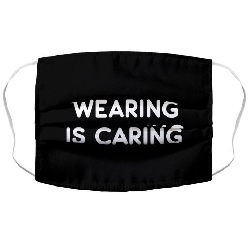 Wearing Is Caring (Black) Accordion Face Mask