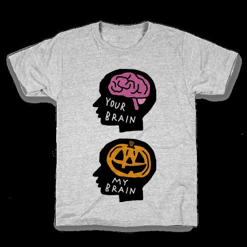 Your Brain My Brain Halloween Kids T-Shirt