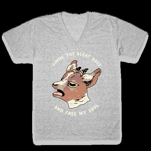 Gimme The Bleat Boys V-Neck Tee Shirt