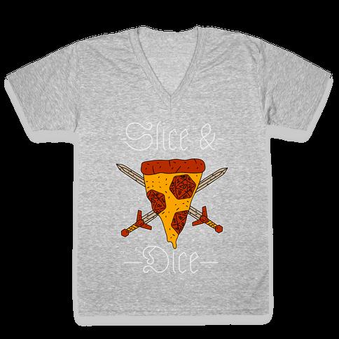 Slice & Dice V-Neck Tee Shirt
