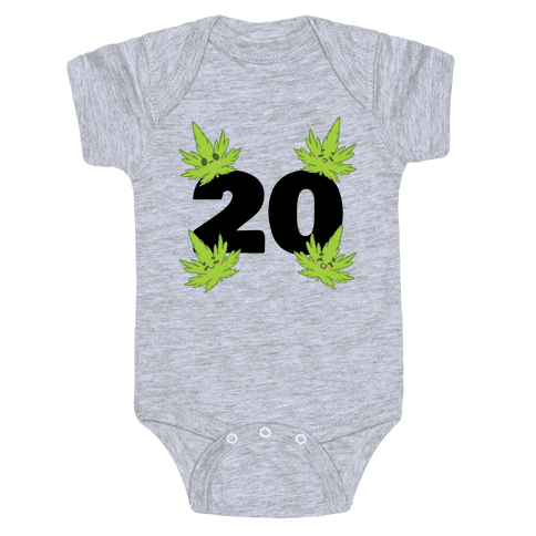 4 Leaves And #20 Baby One-Piece