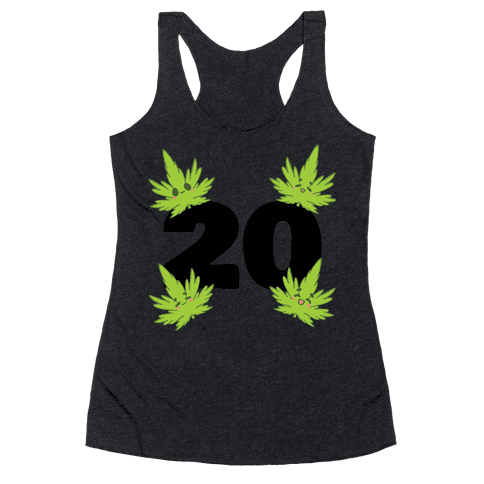 4 Leaves And #20 Racerback Tank Top