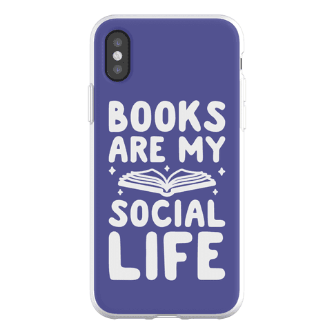 Books Are My Social Life Phone Flexi-Case
