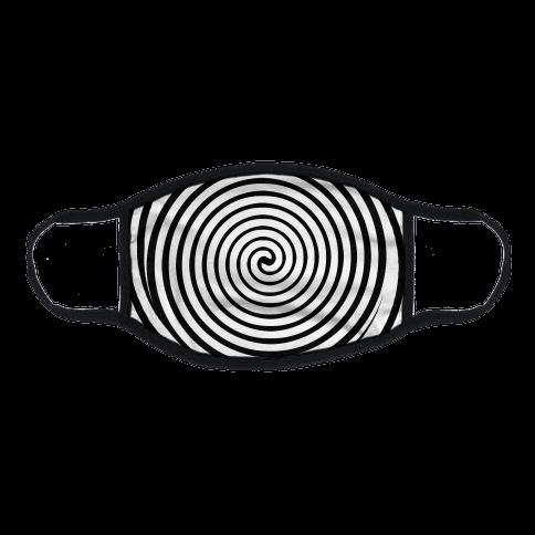 Hypnosis Swirl Flat Face Mask