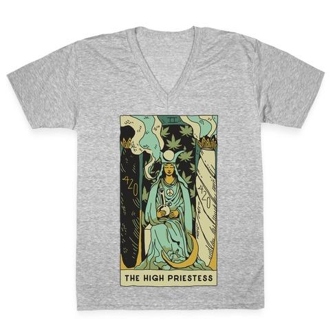 The High Priestess V-Neck Tee Shirt