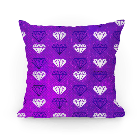 Purple Distressed Diamonds Pillow