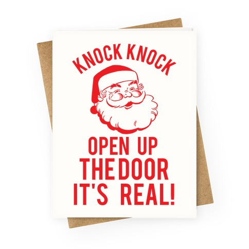 Knock Knock Santa Greeting Card