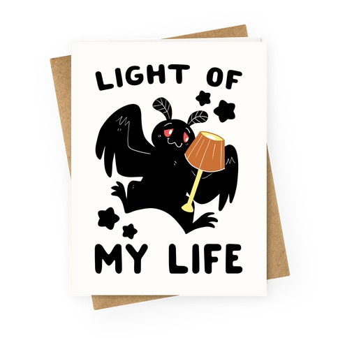 Light of my Life - Mothman and Lamp Greeting Card