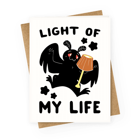 Light of my Life - Mothman and Lamp Greeting Card