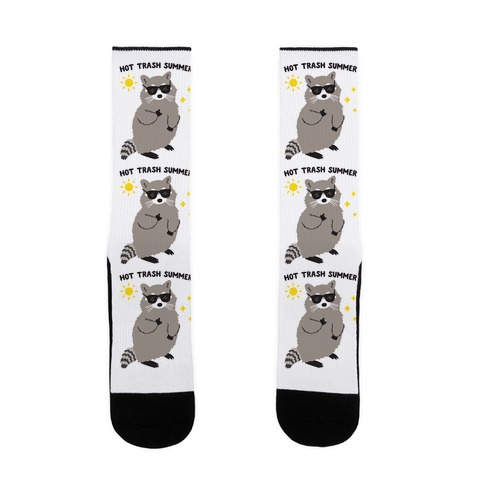 Hot Trash Summer - Raccoon Sock