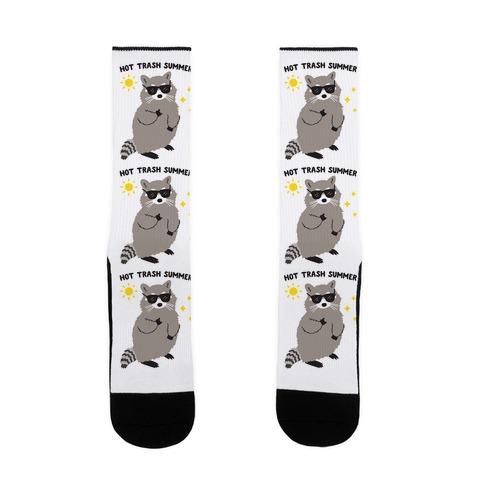 Hot Trash Summer - Raccoon Sock