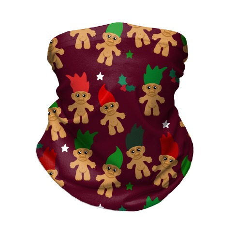 Christmas Trolls Pattern Neck Gaiter
