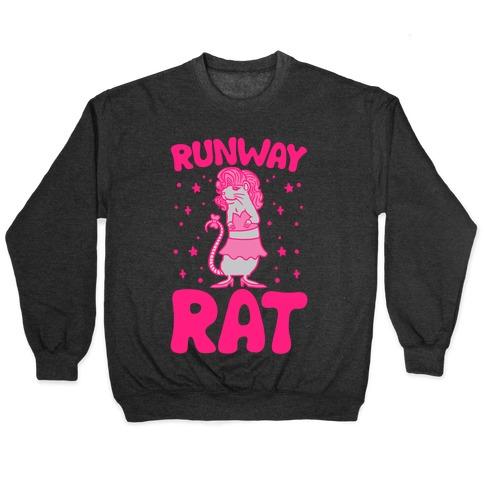 Runway Rat White Print Pullover