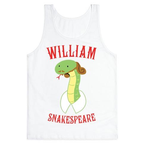 William Snakespeare Tank Top