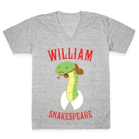 William Snakespeare V-Neck Tee Shirt