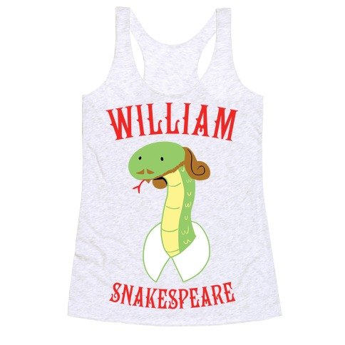 William Snakespeare Racerback Tank Top