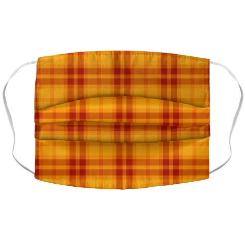 Autumn Plaid Accordion Face Mask