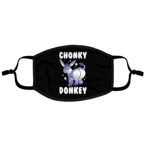 Chonky Donkey Flat Face Mask