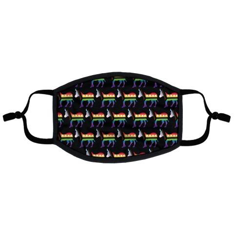 Gay Democrat Pattern Flat Face Mask