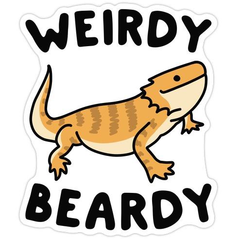 Weirdy Beardy Bearded Dragon Die Cut Sticker