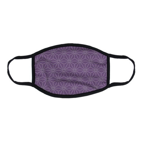 Sashiko Asanoha (Purple) Flat Face Mask