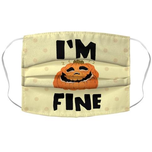 I'm Fine Accordion Face Mask