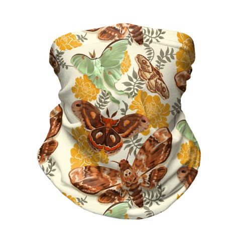 Moths & Marigolds Neck Gaiter