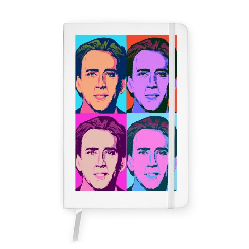 Nicholas Cage Pop Art Parody Notebook