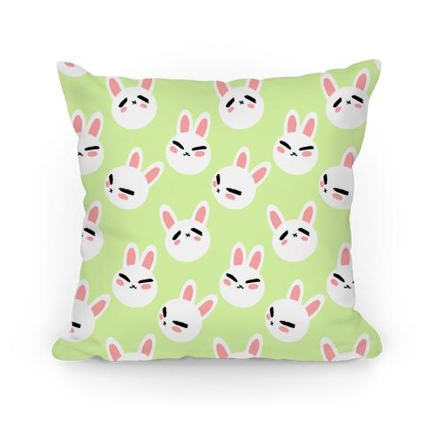 BunBun Pattern Green Pillow