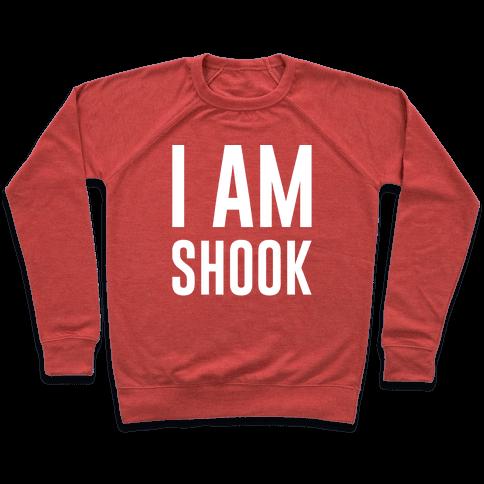 I Am Shook White Print Pullover